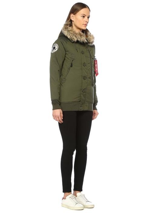 Polar SVL Haki Kapüşonlu Ceket