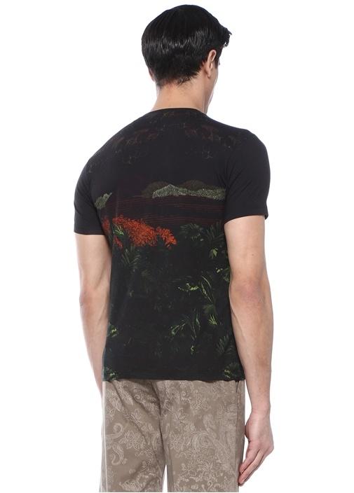 Siyah Baskılı Basic T-shirt