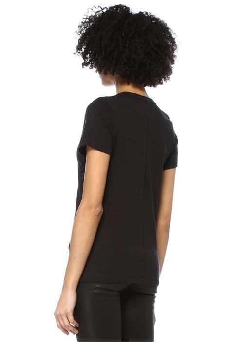 Vee Siyah V Yaka Basic T-shirt