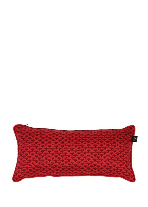 Kırmızı Balık Baskılı Dekoratif Yastık