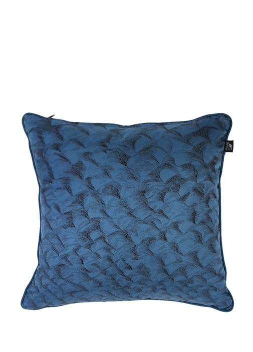 Mavi Ahtapot Desenli Dekoratif Yastık