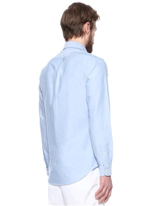 Mavi Logo Nakışlı Gömlek
