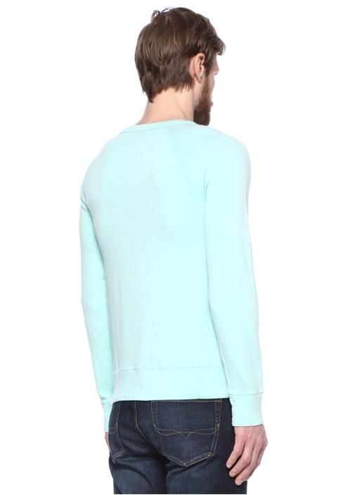 Yeşil Logo Nakışlı Sweatshirt