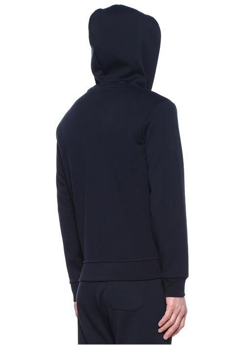 Performance Lacivert Kapüşonlu Logolu Sweatshirt