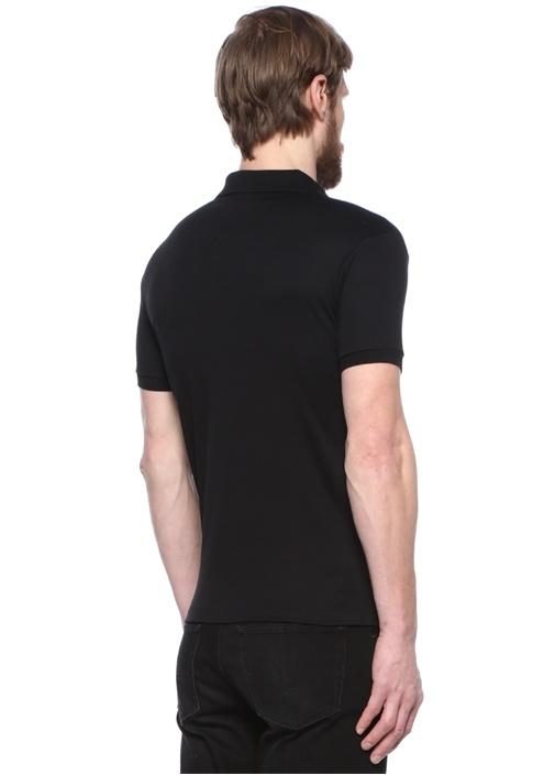Slim Fit Siyah Polo Yaka T-shirt