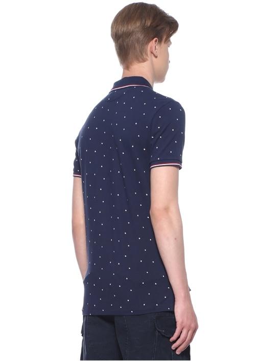 Custom Slim Fit Lacivert Polo Yaka T-shirt