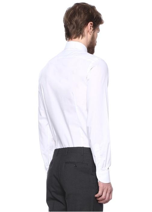 Beyaz İngiliz Yaka Impeccabile Gömlek