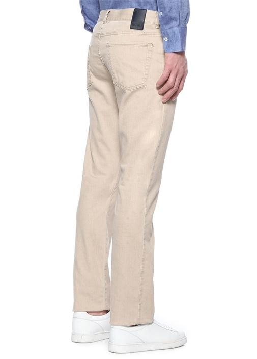 Regular Fit Bej Normal Bel Jean Pantolon