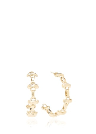 Beymen Collection Kadın Gold Zincir Formlu Küpe Altın Rengi EU