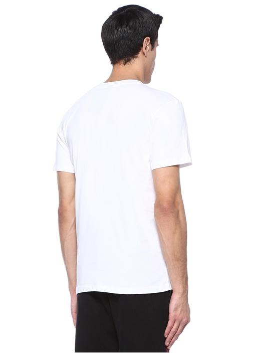 Time To Cuddle Beyaz Bisiklet Yaka Baskılı T-shirt
