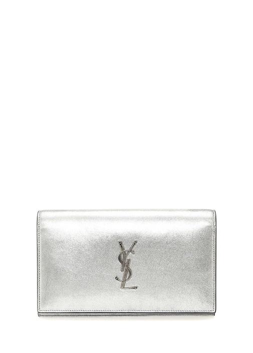 Saınt Laurent Monogram Silver Kadın Deri El Portföyü – 7795.0 TL