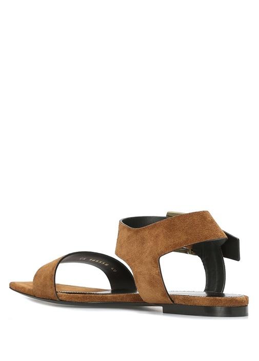 Oak Taban İnce Bantlı Kadın Süet Sandalet