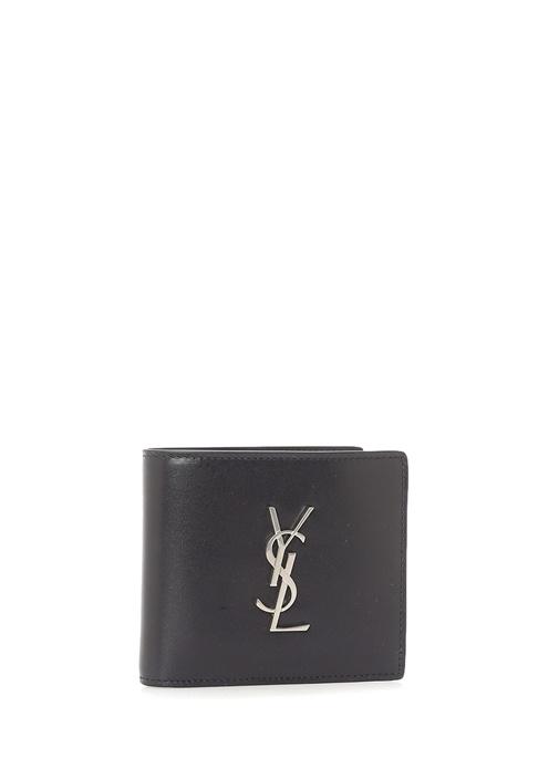 Lacivert Metal Logolu Erkek Deri Cüzdan