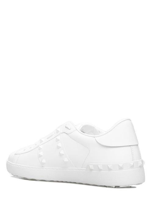 Rockstud 11 Beyaz Erkek Deri Sneaker