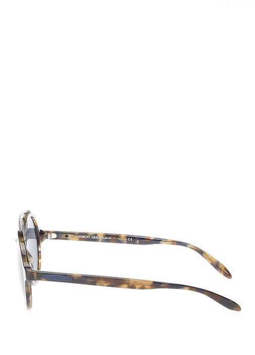 Kahverengi Turtle Desenli Erkek Güneş Gözlüğü