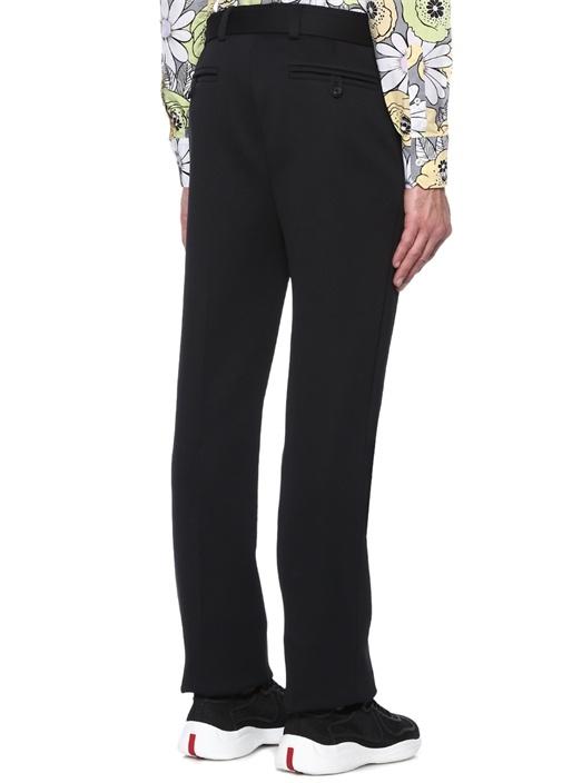 Siyah Logolu Yüksek Bel Pantolon