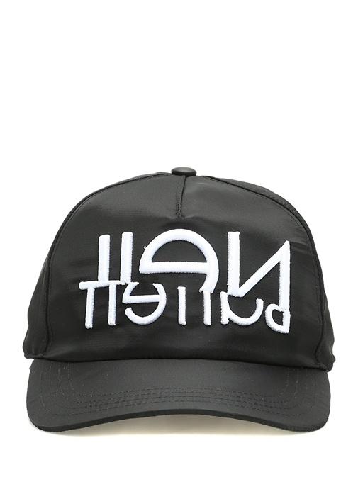 Siyah Logo Nakışlı Erkek Şapka
