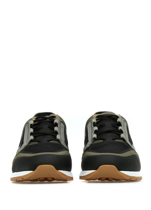 Haki Siyah Logo Detaylı Erkek Sneaker