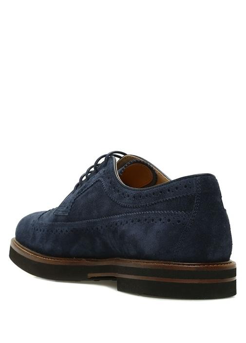 Mavi Delik Detaylı Erkek Süet Ayakkabı