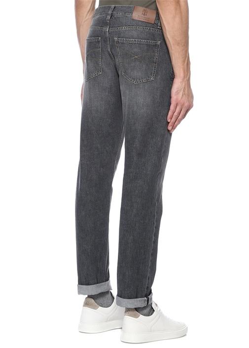 Traditional Fit Gri Normal Bel Jean Pantolon