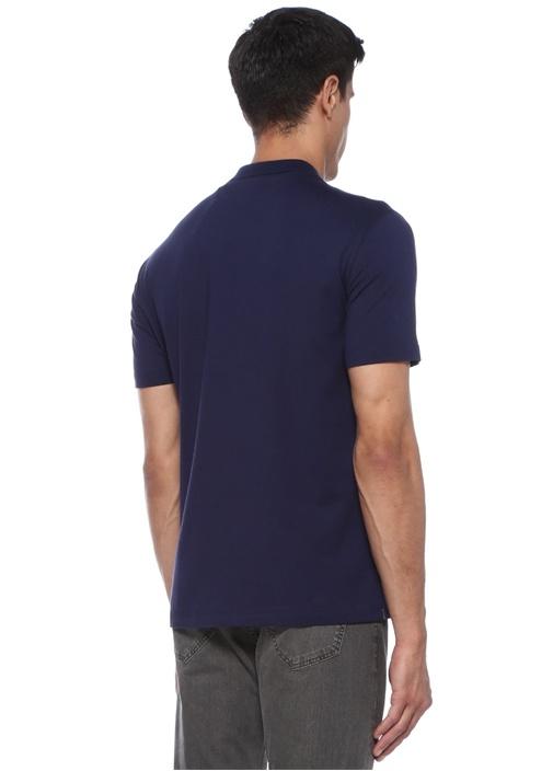 Regular Fit Lacivert Yaka Detaylı T-shirt