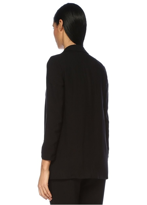 Aleida Siyah Kelebek Yaka Blazer Ceket