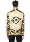 Siyah Gold İngiliz Yaka Barok Baskılı İpek Gömlek