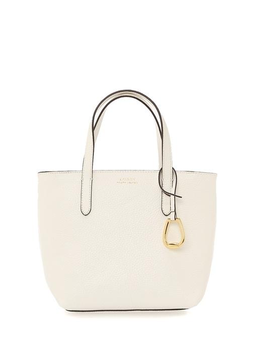 Merrimack Beyaz Dokulu Kadın Deri Çanta