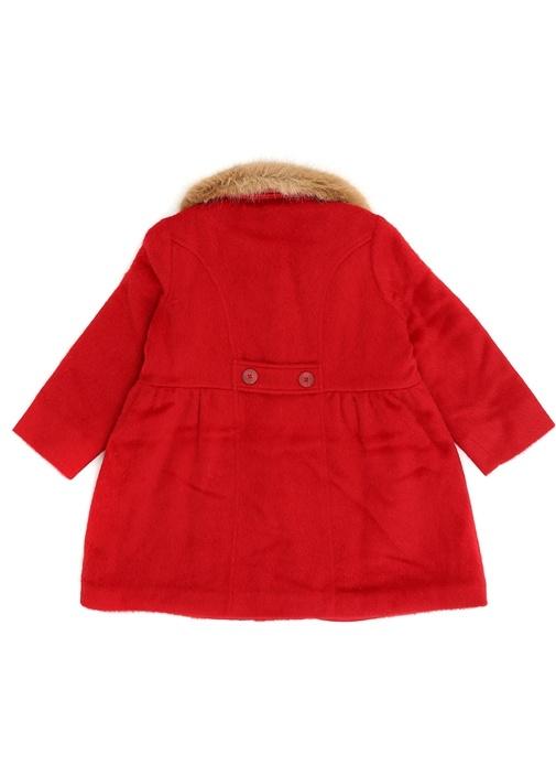 Kensington Kırmızı Polo Yaka Kız Çocuk Palto