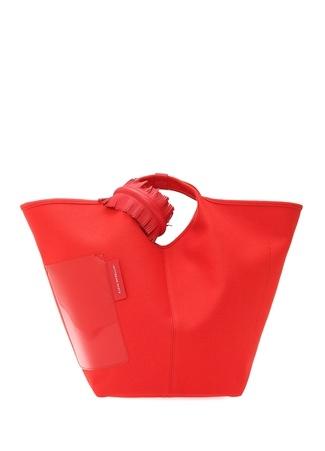 Kadın Vanity Kırmızı Logolu Alışveriş Çantası EU