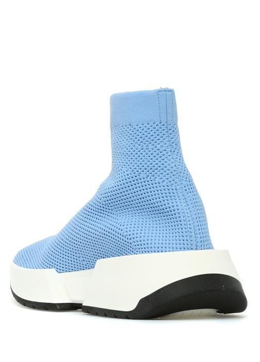 Mavi Dokulu Logo Jakarlı Çorap Formlu Kadın Sneake