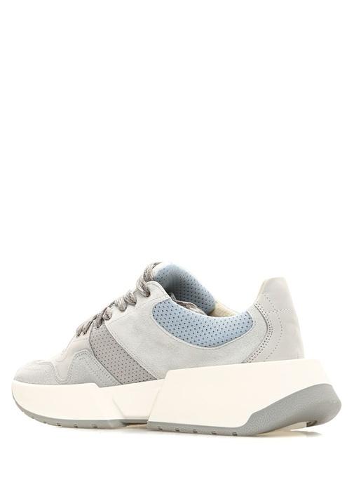 Gri File Dokulu Kadın Sneaker