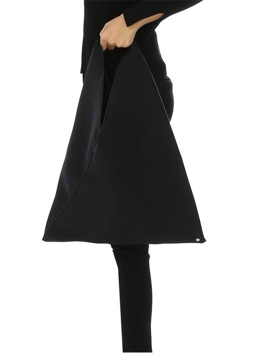 Japanese Medium Siyah Neopren Kadın El Çantası