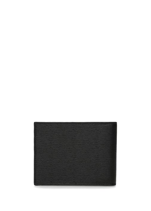 Siyah Haki Logo Baskılı Erkek Deri Cüzdan