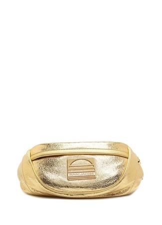 Marc Jacobs Kadın Gold Logolu Deri Çanta Altın Rengi M/L Ürün Resmi
