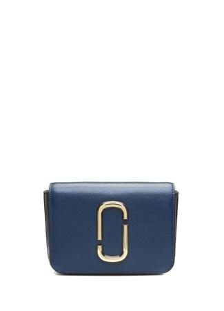 Marc Jacobs Kadın Lacivert Siyah Logolu Deri Çanta Mavi XS/S Ürün Resmi