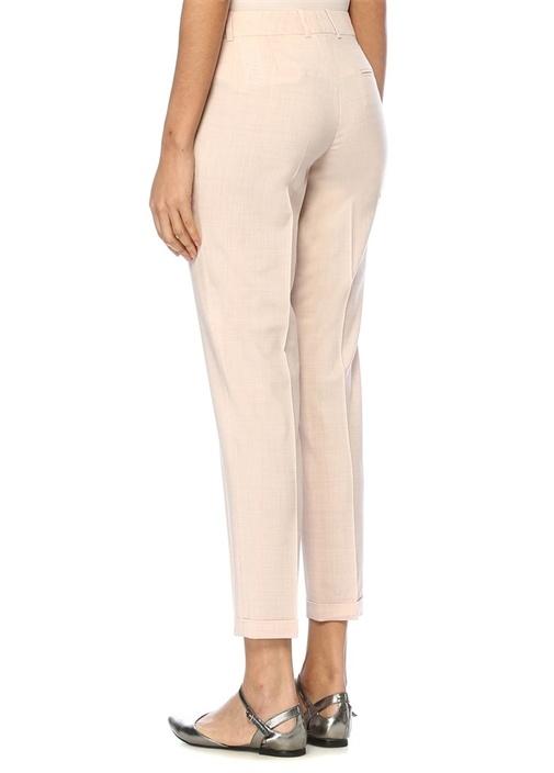 Pembe Normal Bel Yün Pantolon