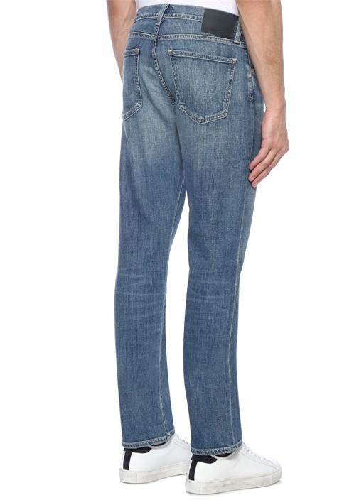 Classic Straight Gage Normal Bel Jean Pantolon