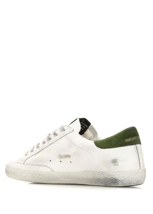 Superstar Beyaz Yeşil Erkek Deri Sneaker