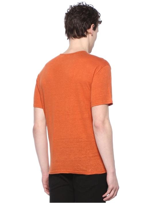 Turuncu Basic Keten T-shirt