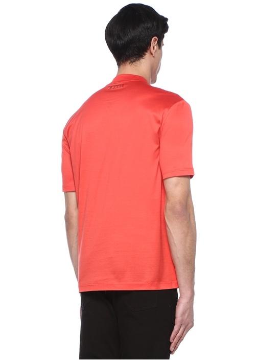 Regular Fit Kırmızı Dik Yaka Basic T-shirt