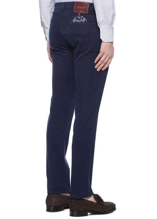 Slim Fit Lacivert Normal Bel Dar Paça Pantolon