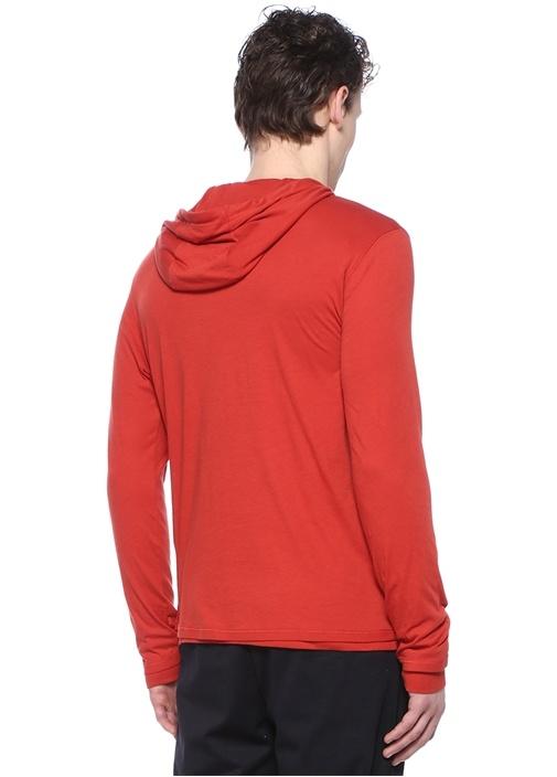 Kırmızı Kapüşonlu Sweatshirt