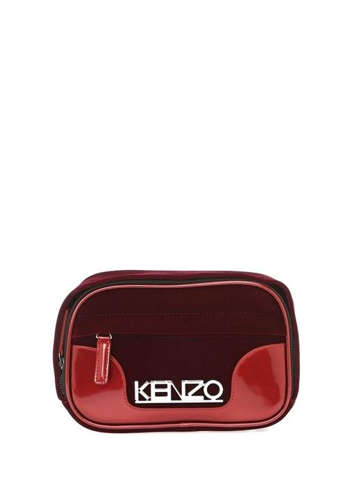5ed4f04643814 Kenzo Bordo KADIN Bordo Logolu Kadın Kadife Bel Çantası 585995| Beymen