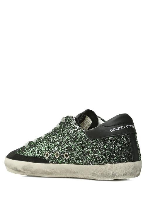 Superstar Yeşil Sim Dokulu Kadın Sneaker
