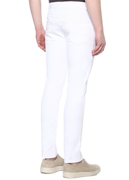 Kanh Slim Fit Beyaz Jean Pantolon