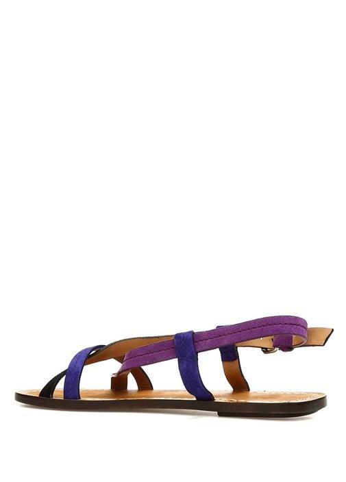 Jalmee Mor Kadın Süet Sandalet