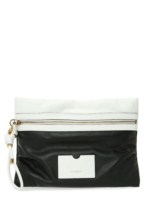Gıvenchy Siyah Beyaz Logolu Kadın Deri El Portföyü – 8995.0 TL
