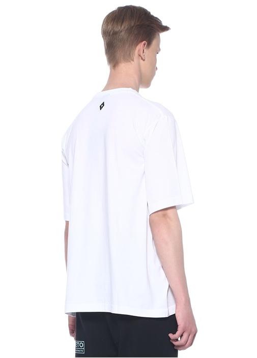 Beyaz Baskılı T-shirt