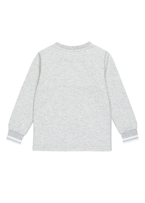 Cruise Gri Melanj Logolu Erkek Çocuk Sweatshirt